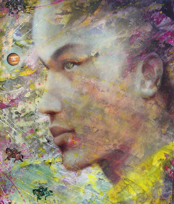 Karmapa - Oil and resin on wood - Simona Marziani